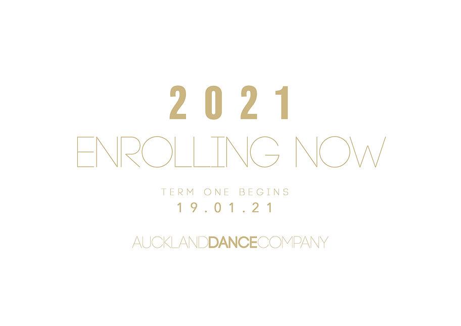 Enrolling Now 2021 INSTAGRAM Auckland Da