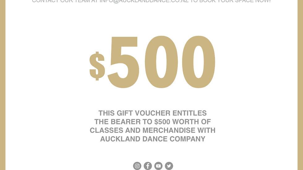 ADC $500 GIFT VOUCHER
