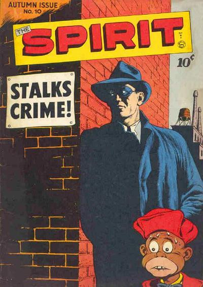 Cover of The Spirit #10 showing Ebony White.