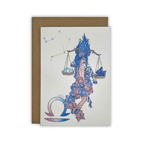 Libra Goddess Zodiac Card