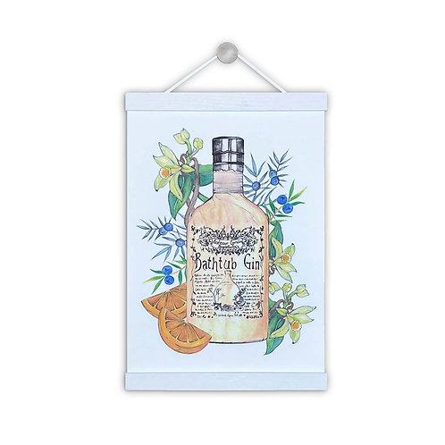 Bathtub Gin Illustration