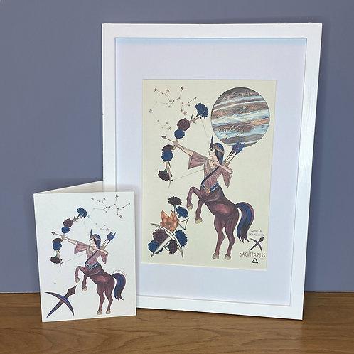 Sagittarius Zodiac Print and Card Set