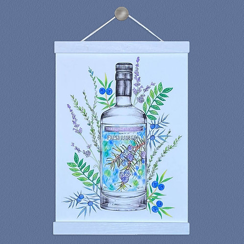 Fresh Rain Gin Illustration