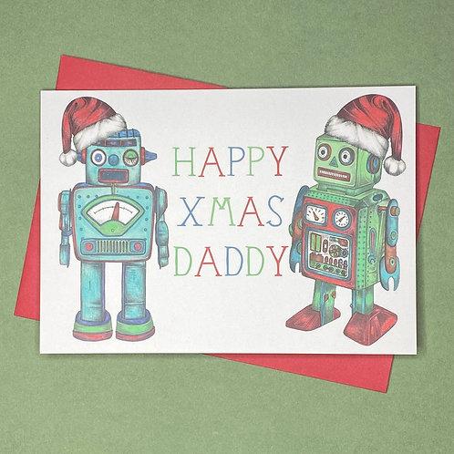 Christmas Robot Daddy Card