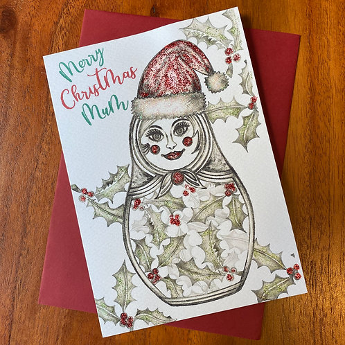 Mum Christmas Card-Russian Doll