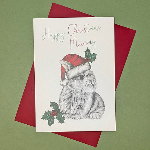 Christmas Bunny Mummy Card