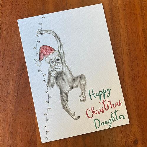Daughter Christmas Card- Orangutan