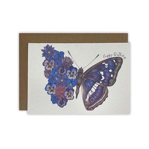 Flower Butterfly Birthday Card