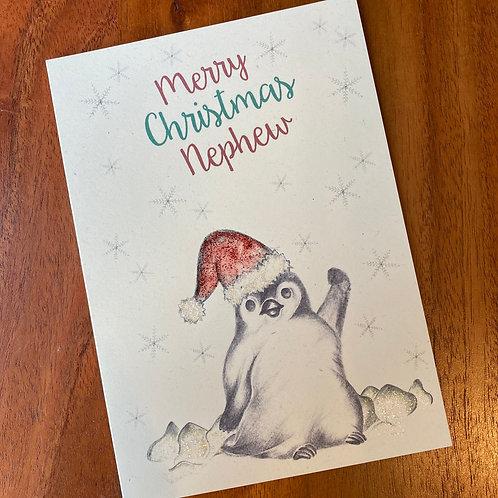 Nephew Christmas Card- Little Penguin