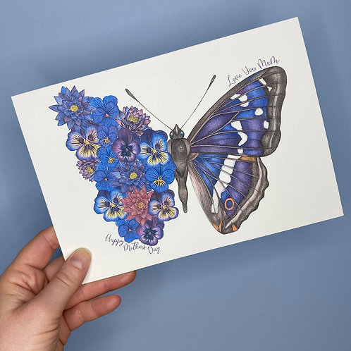 Flower Butterfly Mothers Day Card