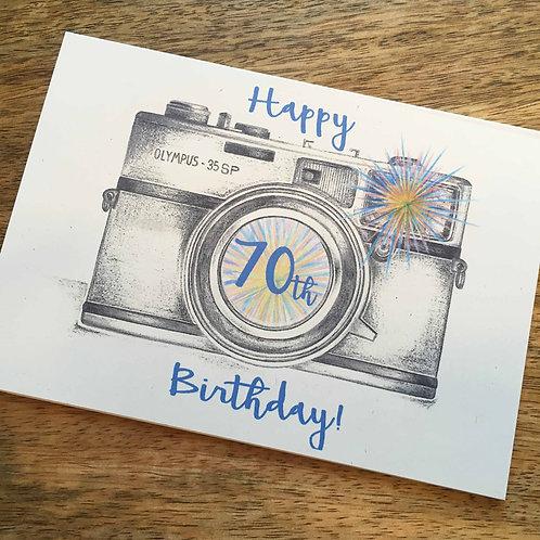 70th Birthday CameraCard