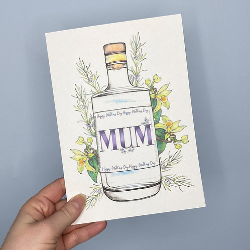Gin Mothers Day Card