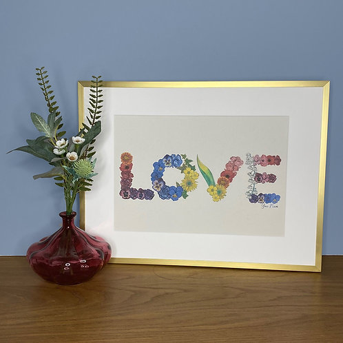 LOVE Mothers Day Flowers Print