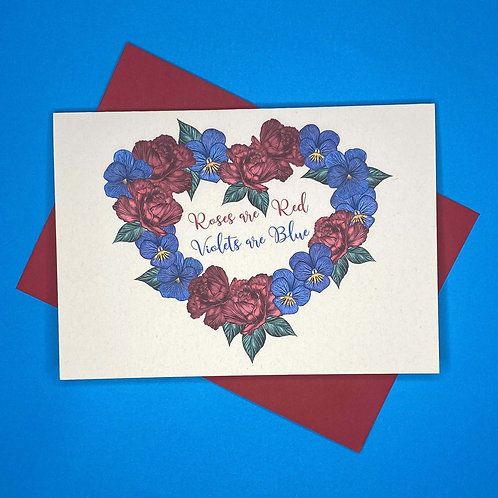 'Roses are Red, Violets are Blue' Card