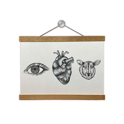 'Eye Heart Ewe' BW Print