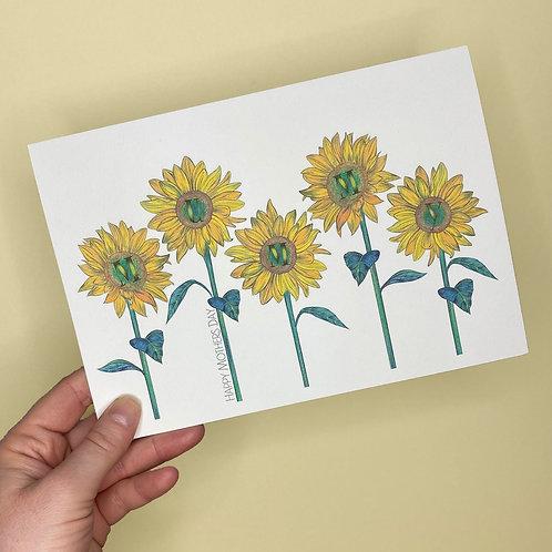 Sunflower Mummy Card