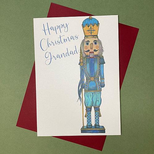 Nutcracker Grandad Christmas Card