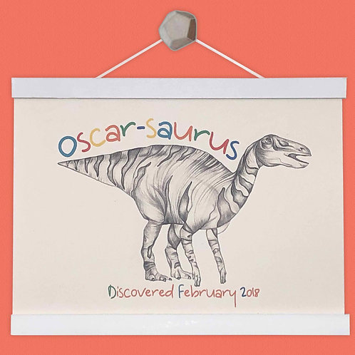 Personalised Edmontosaurus Print