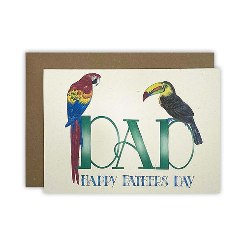Parrot & Toucan Dad Fathers Day Card
