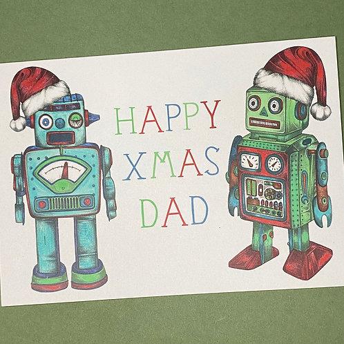Christmas Robot Dad Card