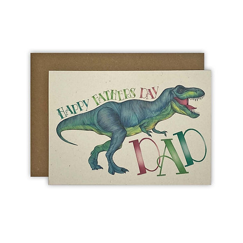 T-Rex Dad Fathers Day Card