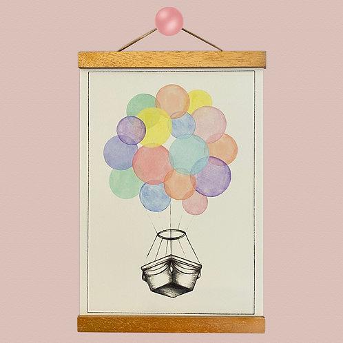Balloon Basket Print