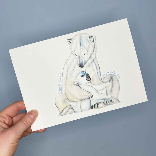 Polar Bear Mothers Day Card