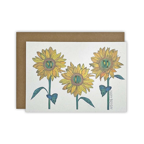 Sunflower Mum Card