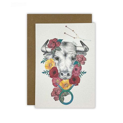 Taurus Bull Zodiac Card