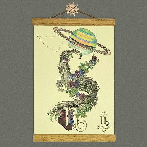 Capricorn Mountain Goat Zodiac Print