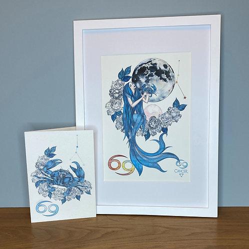 Cancer Zodiac Print and Card Set
