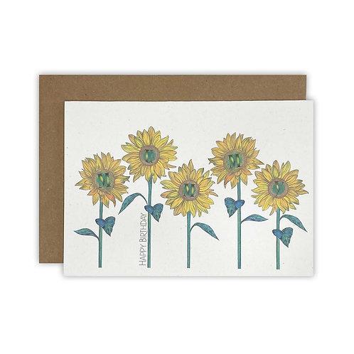 Sunflower Mummy Birthday Card