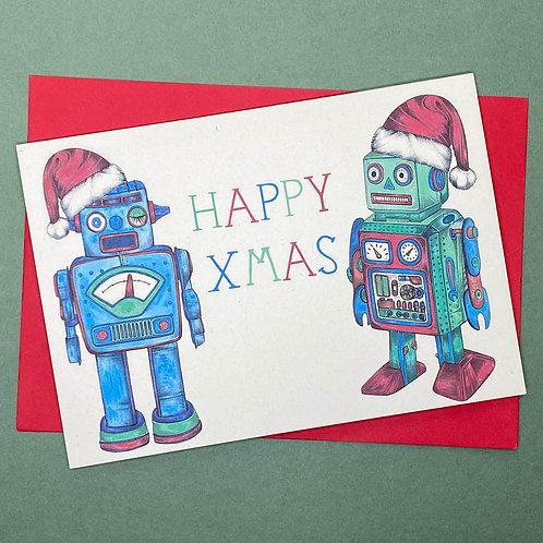 Christmas Robot Card