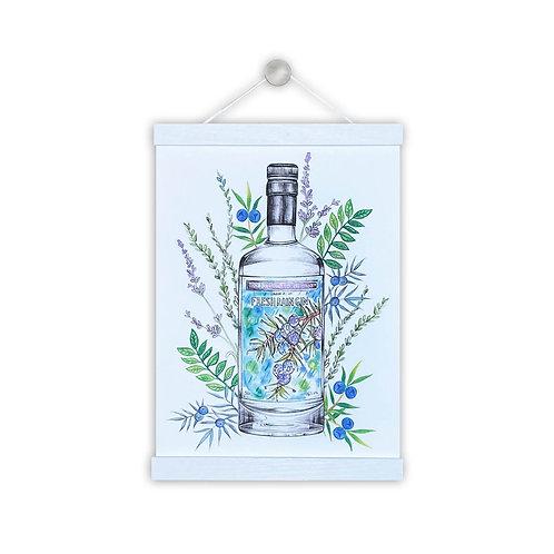 Fresh Rain Gin Illustration
