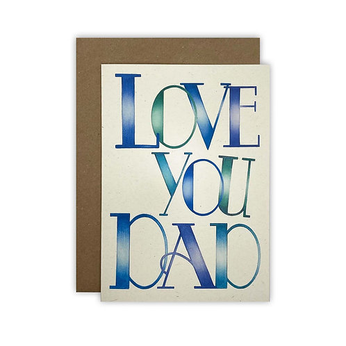 'Love You Dad' Fathers Day Card