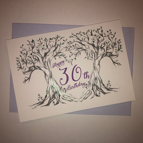 30th Birthday Tree Card
