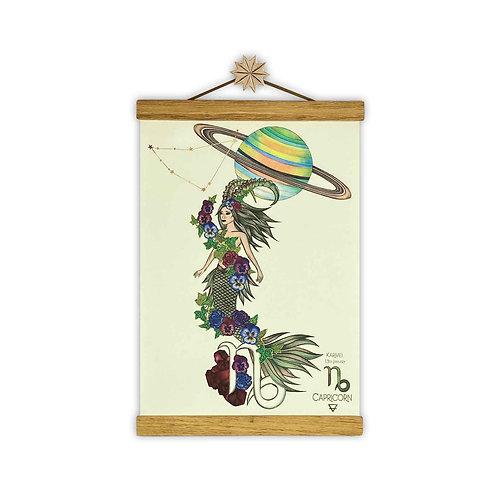 Capricorn Mermaid Zodiac Print