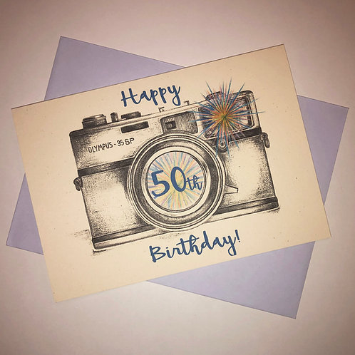 50th Birthday Camera Card