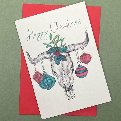 Skull Christmas Card