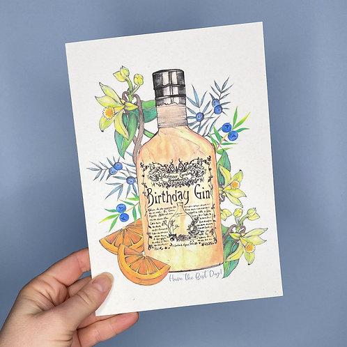 Birthday Gin Card