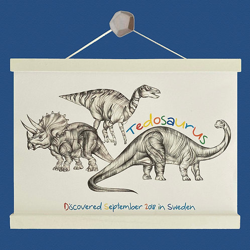Personalised Dinosaur Print