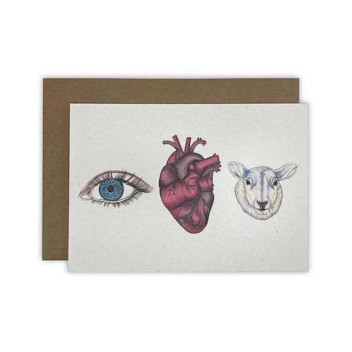 'Eye Heart Ewe' Colour Card