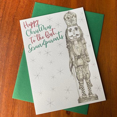 Grandparents Christmas Card- Nutcracker