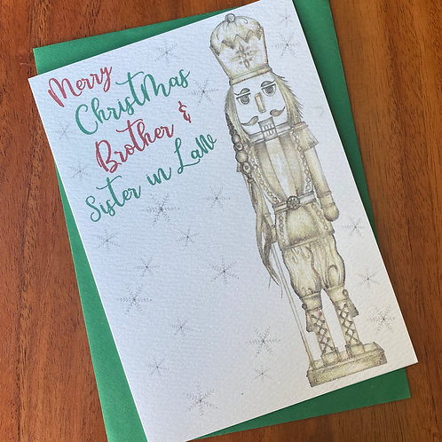 Brother & Sister In Law Christmas Card- Nutcracker