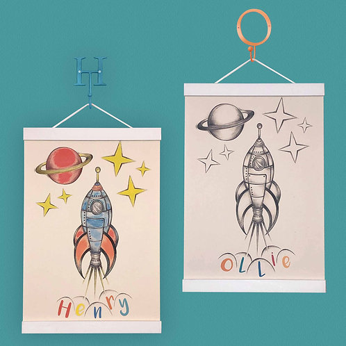 Personalised Rocket Print