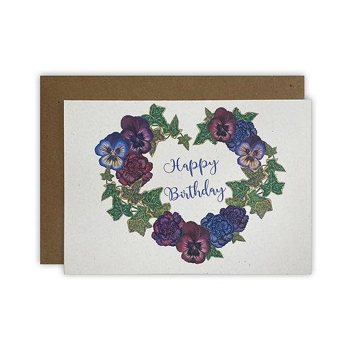 Pansy & Ivy Birthday Card