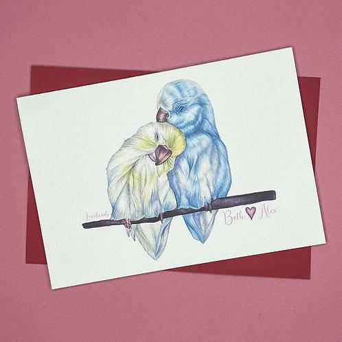 'Lovebirds' Card