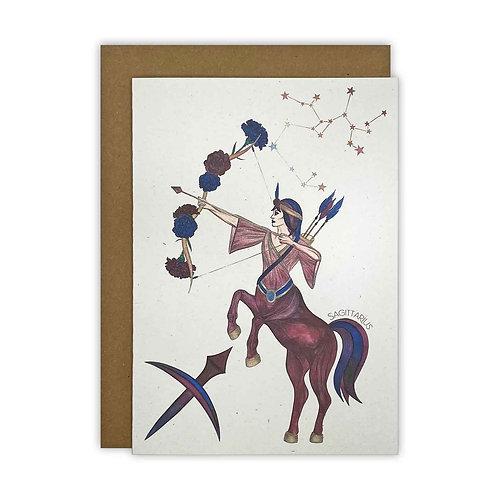 Sagittarius Zodiac Card