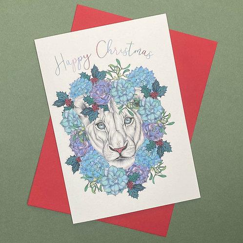 Christmas Lion Card