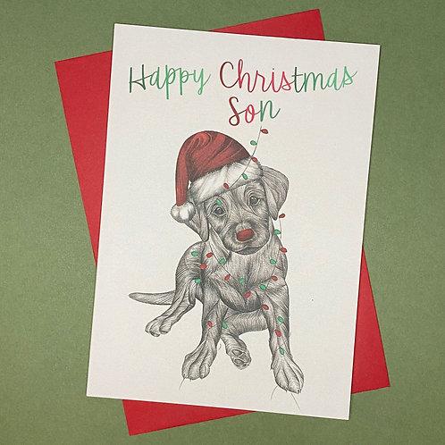 Christmas Labrador Son Card